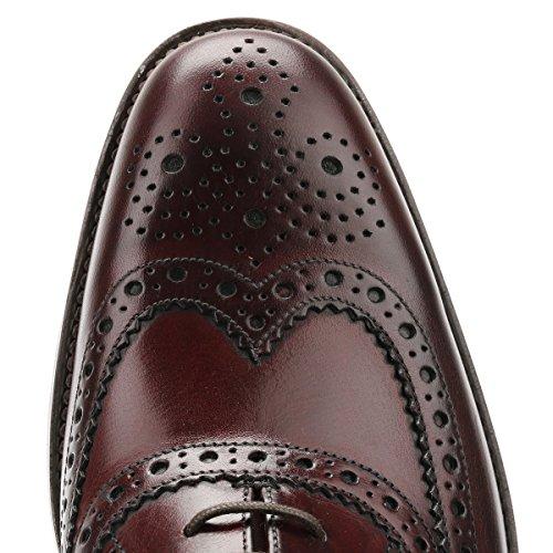 Calf negro negro para Burgundy Loake Zapatos Taille de cordones hombre BwFxHYzq