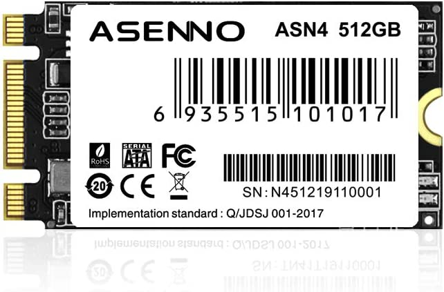 ASENNO M.2 2242 512GB SSD NGFF 120GB 128GB 256GB 512GB Solid State Drive Disk for Ultrabook Desktop PCs and Mac Pro (2242mm)