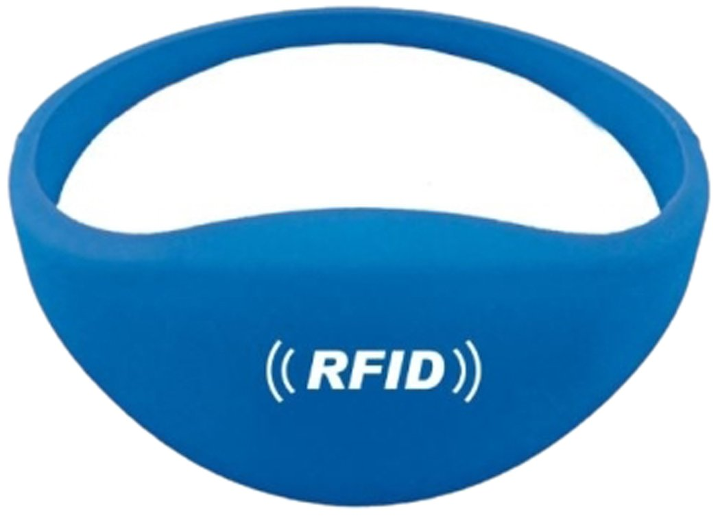 Boye Smart Card G03BRACTK4100B Tag Bracelet RFID 125Khz, Blue, 60 mm, Set of 100 Pieces by Boye Smart Card