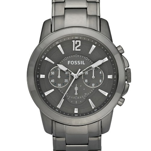 Amazon.com: Fossil Mens FS4584 Stainless Steel Analog Grey Dial Watch: Fossil: Watches