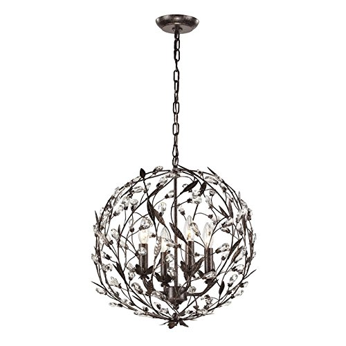 Elk Lighting 18134/4 Circeo Collection 4 Light Pendant, Deep Rust