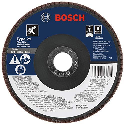 - Bosch FD2960080 6 In. 7/8 In. Arbor Type 29 80 Grit Blending/Grinding Abrasive Wheel  (Pack of 10)