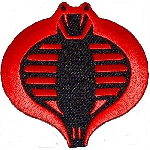 - G.I. JOE Cobra Red & Black Embroidered Logo PATCH