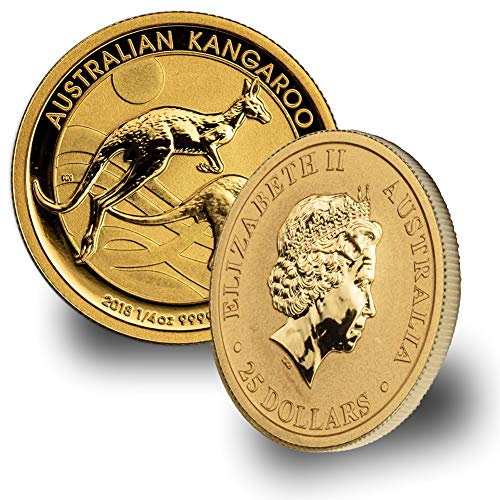 2018 AU Australia  Gold Kangaroo 1/4 oz .9999 Brilliant Uncirculated