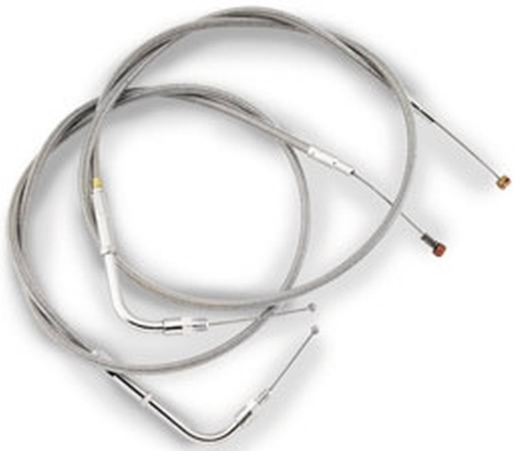 Barnett Performance Products - Stainless Clear-Coated Idle Cable (+4 in)