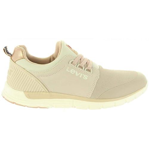 Zapatillas Deporte de Niño y Niña y Mujer Levis VLAS0011S Las Vegas 0002 Beige: Amazon.es: Zapatos y complementos