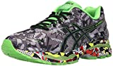 ASICS Men's Gel-Nimbus 18 Running Shoe, Carbon/Black/Green Gecko, 15 M US