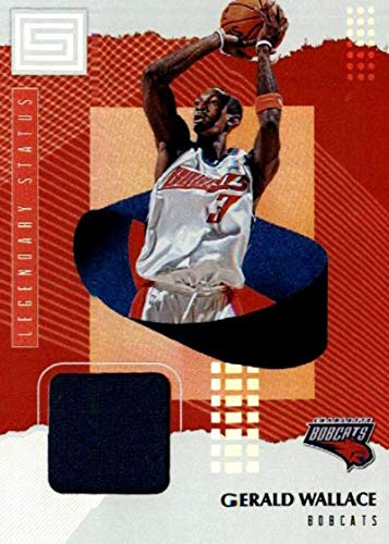 2018-19 Panini Status Legendary Status Materials #5 Gerald Wallace Game Used Jersey Charlotte Bobcats NBA Basketball Trading Card