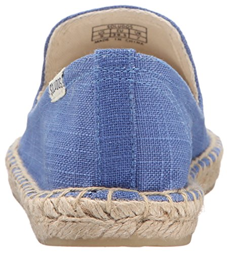 Soludos Frauen bestickte Smoking Slipper Flat Ultra Marine