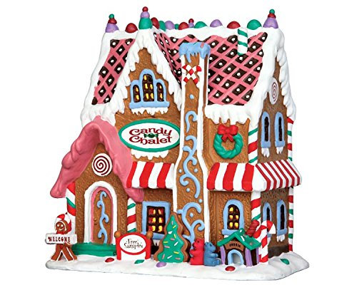Porcelain Candy - Lemax Signature Gingerbread House Candy Chalet Porcelain Lighted Building