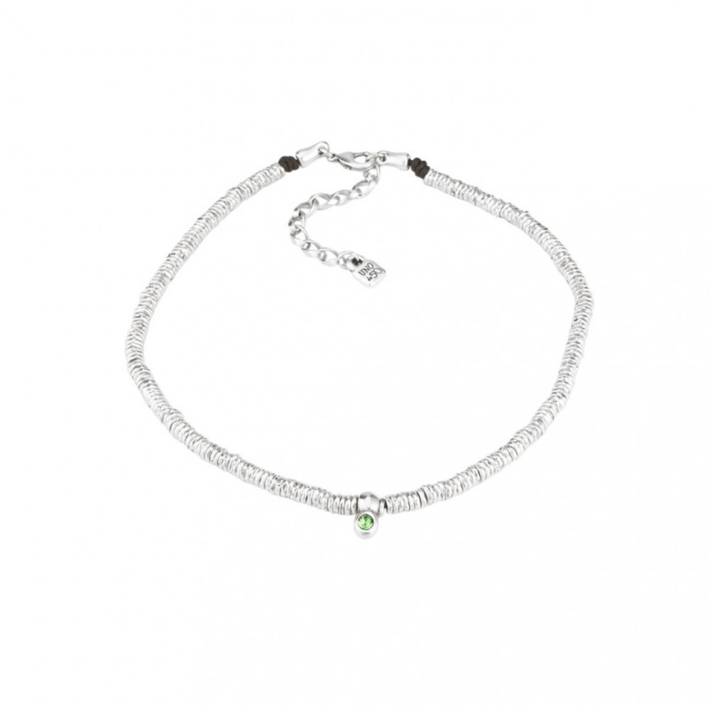 Necklace One of 50 COL1240VRDMTL0U Woman Silver Green Stone