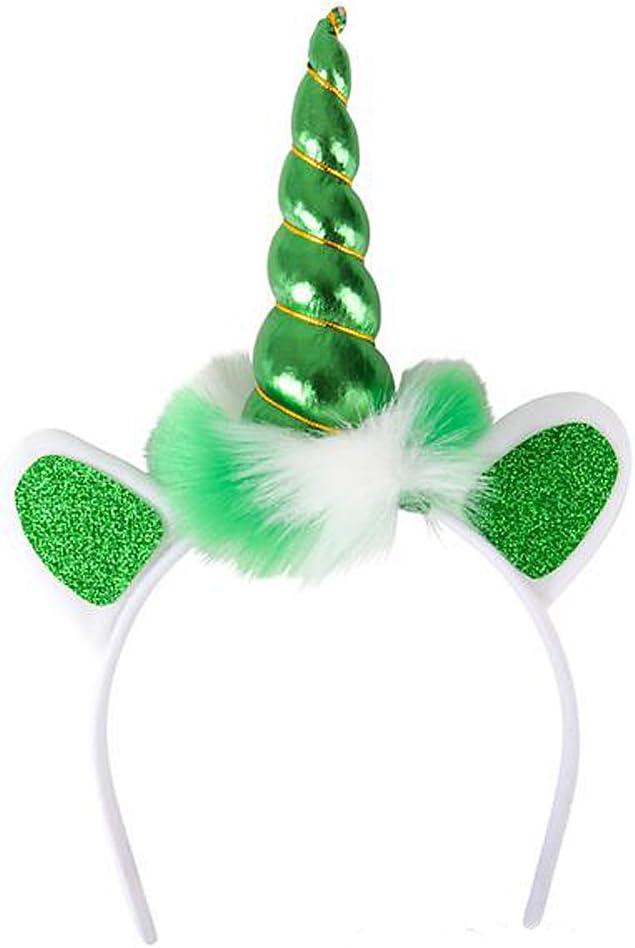 Patricks Day Green Hat Headband Irish Green Pom Pom Headband Set of 2 St