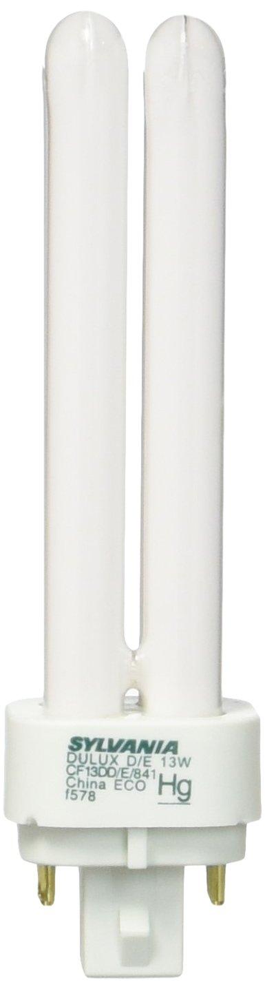 Sylvania 10 Pack 20667 CF13DD/E/841/ECO 13-Watt 4100K 4-Pin Double Tube Compact Fluorescent Lamp