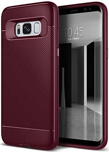 Galaxy S8 Case, Caseology [Vault II Series] Slim Protective Shock Absorbing TPU Textured Grip Corner Cushion Design for Samsung Galaxy S8 (2017) – Burgundy