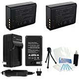 2-Pack LP-E10 High-Capacity Replacement Batteries with Rapid Travel Charger for Select Canon EOS Digital Cameras. UltraPro Bundle Includes: Camera Cleaning Kit, Screen Protector, Mini Travel Tripod