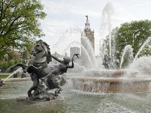 Photo: Water Fountain,Plaza Shopping Mall,Kansas City,Missouri,MO,May - City Kansas North Shopping