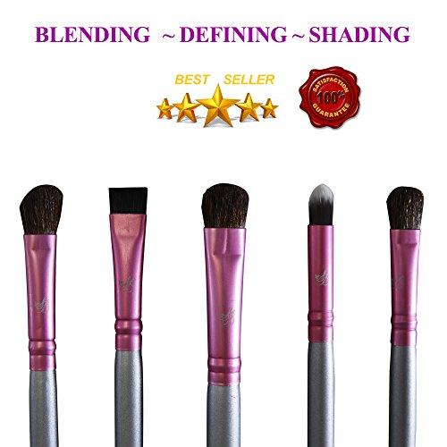 Tapered Crease Defining Brush - Makeup Eyeshadow Blending Crease Brush - Premium Shading Brushes Kit Dabbing Filling Defining Best Brushes To Achieve Glamorous Looks