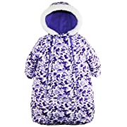 Pink Platinum Baby Girls Snowsuit Carbag Floral Camo Winter Puffer Bunting Pram, Purple, 3-6 Months