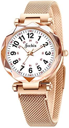 Jechin Women's Easy Read magnetic buckle, just quartz watches