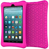 eTopxizu Case for All-New Amazon Fire 7 Tablet, Kids Friendly Light Weight Anti Slip Shock Proof Protective Soft Silicone Back Cover Case for New Fire 7 Tablet (7th Generation, 2017 Release),Rose Pink