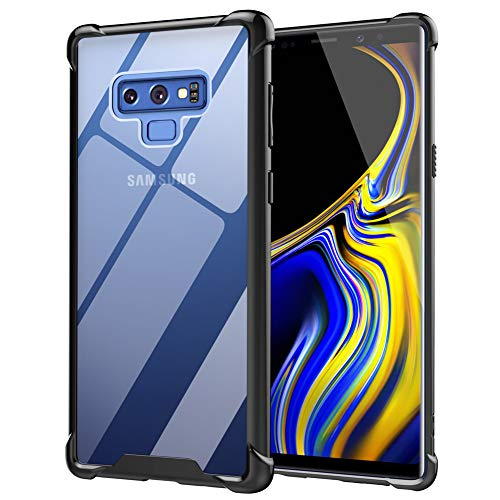 Ztotop Case for Samsung Galaxy Note 9, Hybrid Protective Clear Case Anti-Scratch Shockproof Rugged Hard Back Cover with Soft TPU Bumper Cushion for Samsung Galaxy Note 9,Black