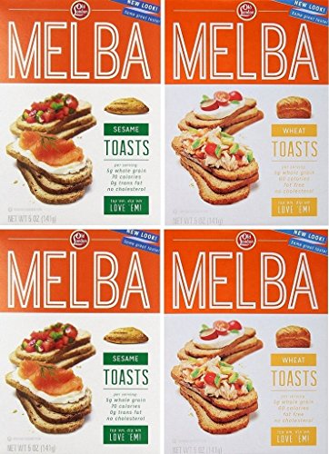 Old London Toasts (Pack of 4, 1.25 Lb) - Melba Toast