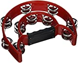 Pro Half Moon Tambourine Double Cutaway MT-1 -Red