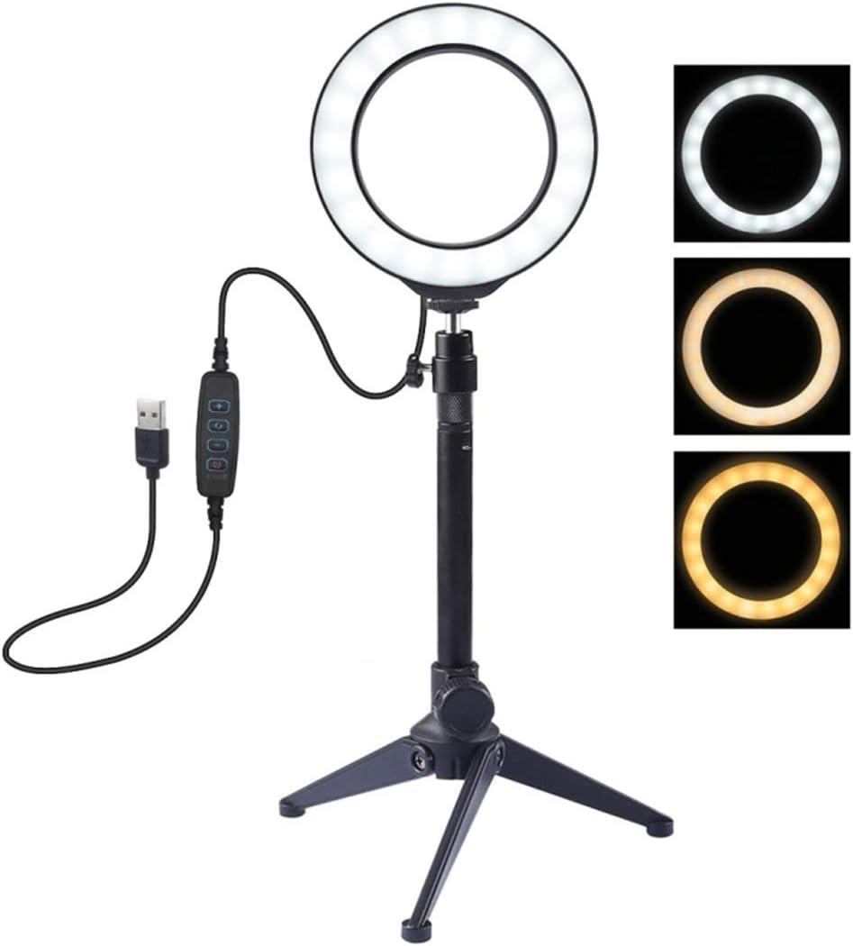 Lichtring Mit Stativ Teakpeak 4 7 Zoll Einstellbares Kamera
