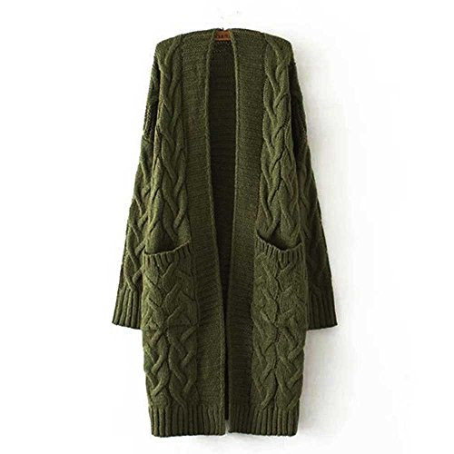 Donna Donna A army Cardigan Sanxin Green 64qwSH