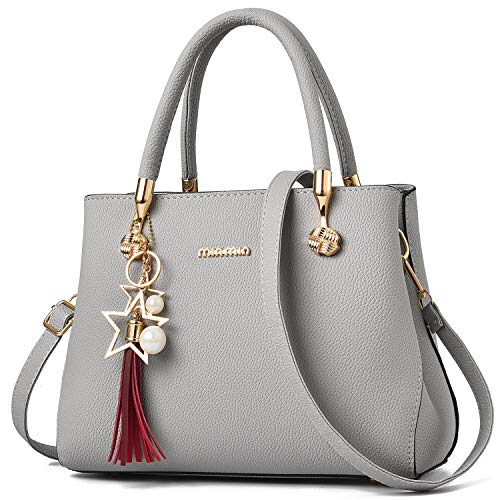(WangWang Women Top Handle Handbags Satchel Tote Purse Shouler Bags Messenger Bags For Ladies )