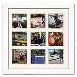 White Matted Instagram Collage Photo Frame - Nine 4' x 4' Photos