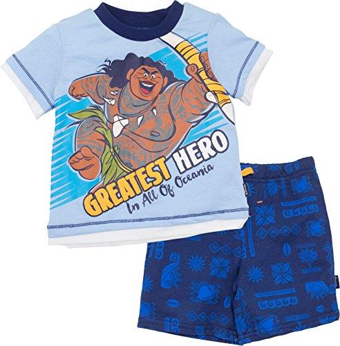 Disney Moana Maui Infant Baby Boys T-Shirt & French Terry Shorts Clothing Set