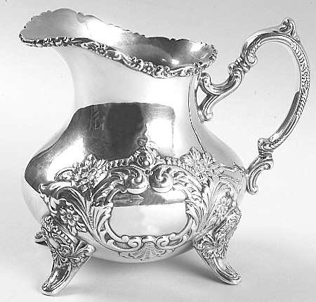 Poole Sterling Silver - Large Creamer & Sugar Bowl -