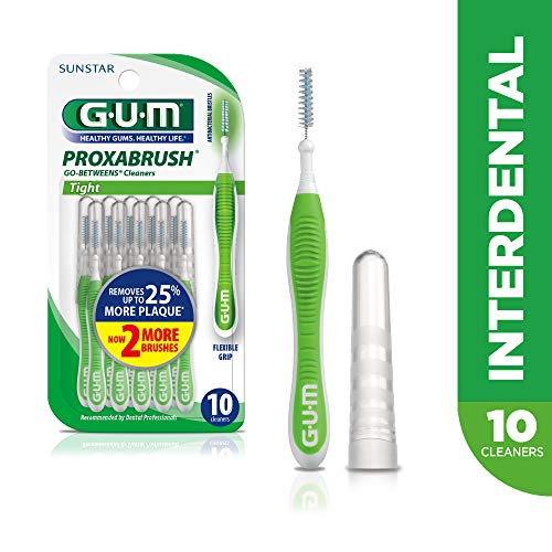 GUM Proxabrush Go-Betweens Interdental Brushes, Tight, 10 Count