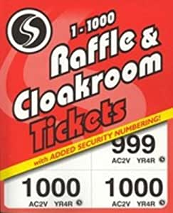 Silvine Cloakroom Ticket 1-1000 1000-T Pack of 6