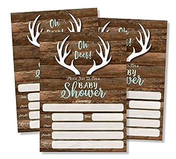 Amazon.com: Oh Deer invitaciones y sobres (Tamaño Grande, 5 ...