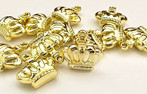 Gold Prince Princess Crown Charms Embellishment Party Favor DIY Projects