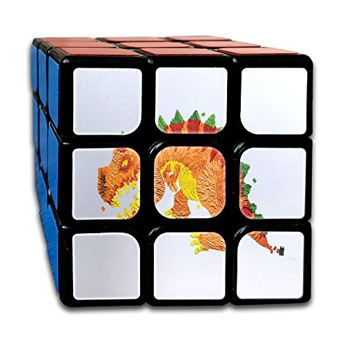 Magic Speed Cube Cute Dinosaur The Best Brain Training Game - 3X3 Easy Turning And Smooth Play, Super Durable With Vivid (Blow Up Dinosaur Costume Video)