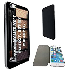 662 - Makeup Palette Girly Quote Perfect Life Design iphone 6 6S 4.7'' Fashion Trend Funky Smart Clear Plastic & TPU Flip Case Full Cover Purse Pouch Defender Book Case