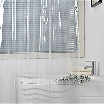 Eforgift Vinyl Shower Curtain Liner Long Size Non Toxic 100 Waterproof And Durable Bath Mildew Free With Rust Proof Metal Grommets Weighted