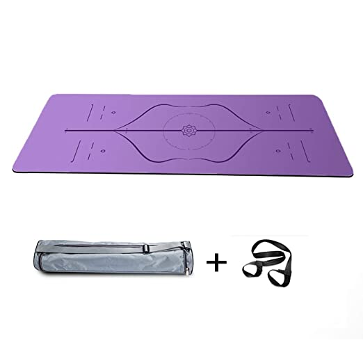 ZHENYANG Estera De Yoga 5mm 183x68cm 5 Estilo Caucho Natural ...