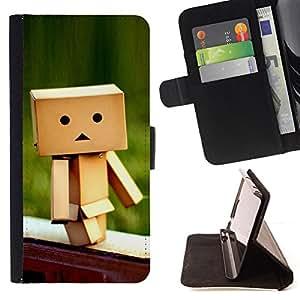 For HTC One M7 - Cute Box /Funda de piel cubierta de la carpeta Foilo con cierre magn???¡¯????tico/ - Super Marley Shop -