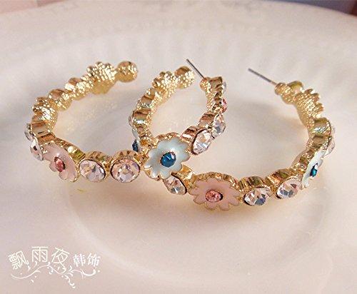 usongs trade original foundry circle wreath flowers garland holiday porcelain drip earrings earrings do old woman