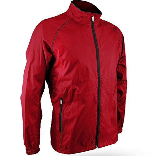 Sun Mountain Men's Provisional Jacket (Red/Steel, Large)