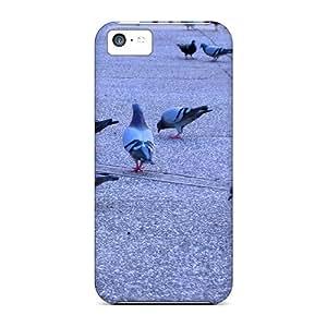 iPhone 5C casos, casos de protección premium con impresionante aspecto–Palomas