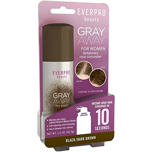 Price comparison product image Everpro Gray Away Women Temporary Root Concealer, Black/Dark Brown 1.5 oz