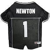 NFL NFLPA DOG JERSEY - CAM NEWTON #1 Pet Jersey CAROLINA PANTHERS Mesh Jersey, Small