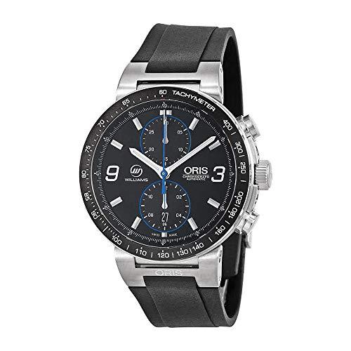 Oris Williams F1 Team Black Dial Rubber Strap Men's Watch 773-7685-4184RS - Williams F1 Team