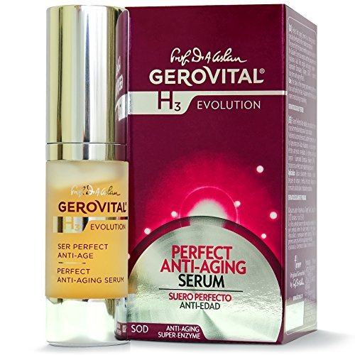 GEROVITAL H3 EVOLUTION, Perfect Anti-Aging Serum With Superoxide Dismutase (The Anti-Aging Super-Enzyme) 45+ Anti Aging Calming Serum