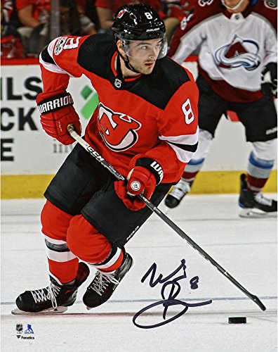"Will Butcher New Jersey Devils Autographed 8"" x 10"" Skating With Puck Photograph - Fanatics Authentic Certified"